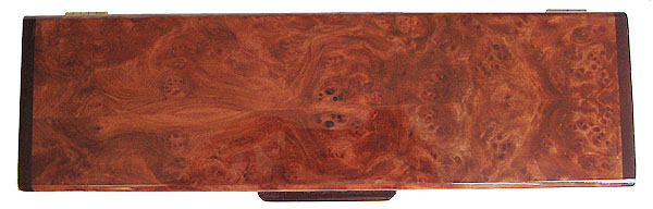 Redwood burl pill box top - Handcrafted decorative wood weekly pill box