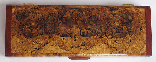 Spalted maple burl box top - Decorative handmade weekly pill box