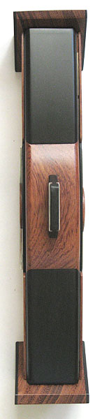 Weekly pill organizer - Handmade pill box made of ebony and bubinga - vertical top view