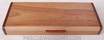 Pearwood box - Decorative wood twice a day weekly pill box