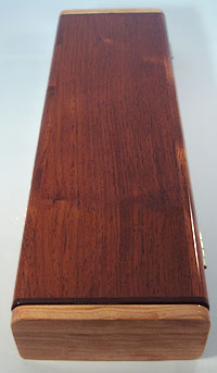 Decorative wood weekly pill box made fro Honduras Rosewood over cherry core
