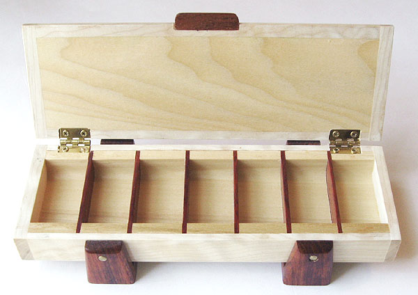 Handmade Weekly Pill Organizer Bleached Spalted Maple