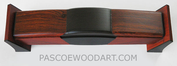 Decorative weekly pill box handmade of cocobolo and ebony - 7 day pill box