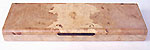 Handmade maple burl wood super slim weekly pill box SW-1